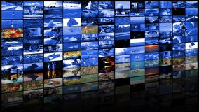 Concepto de las tecnologías de producción de la televisión como fondo video de la pared metrajes