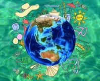 Concepto de las vacaciones de las vacaciones de verano Imágenes de archivo libres de regalías