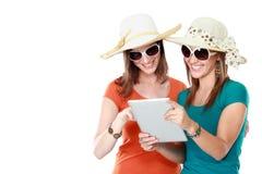 Concepto de las vacaciones de verano, de la tecnología y de Internet Fotografía de archivo