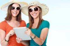 Concepto de las vacaciones de verano, de la tecnología y de Internet Imágenes de archivo libres de regalías