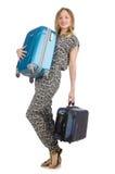 Concepto de las vacaciones del viaje con equipaje Fotos de archivo