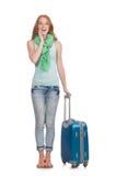 Concepto de las vacaciones del viaje con equipaje Imagenes de archivo