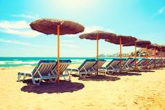 Concepto de las vacaciones. Mar Mediterráneo Foto de archivo libre de regalías