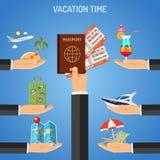 Concepto de las vacaciones y del turismo Fotos de archivo libres de regalías