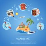 Concepto de las vacaciones y del turismo Imágenes de archivo libres de regalías