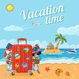 Concepto de las vacaciones y del verano Imágenes de archivo libres de regalías