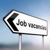 Concepto de las vacantes de trabajo. Fotografía de archivo libre de regalías