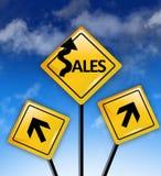 Concepto de las ventas a continuación Fotografía de archivo libre de regalías