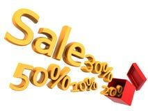 Concepto de las ventas y de los descuentos del asunto Foto de archivo libre de regalías