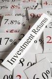Concepto de las vueltas de inversión Foto de archivo libre de regalías