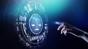 Concepto de Legal Business Consulting del abogado de la ley laboral imagenes de archivo