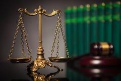 Concepto de ley y de justicia justas Foto de archivo libre de regalías