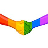 Concepto de LGBT Awarness stock de ilustración