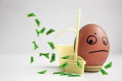 Concepto de limpiamiento del cuerpo El huevo Fotografía de archivo libre de regalías