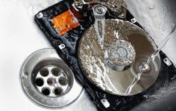 Concepto de limpiar su mecanismo impulsor duro Imagen de archivo