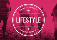 Concepto de Live Lifestyle Life Alive Balance fotos de archivo