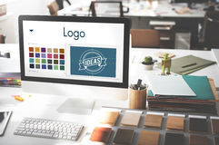 Concepto de Logo Be Creative Inspiration Design Fotos de archivo