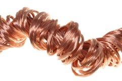 Concepto de los alambres de cobre de industria de potencia de la energía Imágenes de archivo libres de regalías