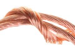 Concepto de los alambres de cobre de la industria energética Fotografía de archivo