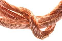 Concepto de los alambres de cobre de la industria energética Foto de archivo