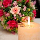 Concepto de los anillos de bodas Foto de archivo libre de regalías