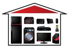 Concepto de los aparatos electrodomésticos Imagen de archivo libre de regalías