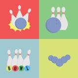 Concepto de los bolos Bolos con la colección de las bolas Fotografía de archivo libre de regalías