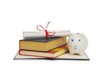 Concepto de los costes de educación Imagen de archivo