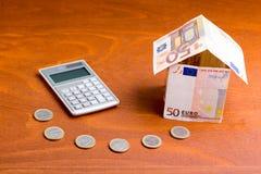 Concepto de los costos de la vivienda Imagenes de archivo
