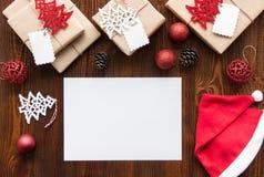Concepto de los días de fiesta del Año Nuevo con el espacio de la copia para el texto Fotografía de archivo libre de regalías