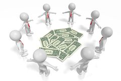 concepto de los dólares 3D Foto de archivo libre de regalías