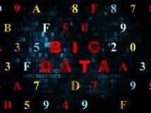 Concepto de los datos: Datos grandes sobre el fondo de Digitaces Imagen de archivo libre de regalías