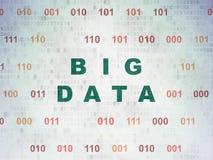 Concepto de los datos: Datos grandes sobre el fondo de papel de Digitaces Foto de archivo libre de regalías