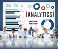Concepto de los datos de la estrategia de las estadísticas de la información del Analytics Imágenes de archivo libres de regalías