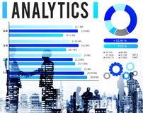 Concepto de los datos de la estrategia de las estadísticas de la información del Analytics Imagen de archivo libre de regalías