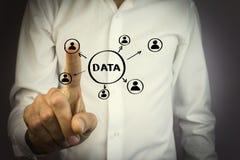 Concepto de los datos del botón del negocio Imagen de archivo libre de regalías