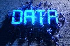 Concepto de los datos del pixel libre illustration