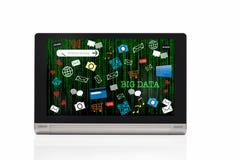 Concepto de los datos e idea grandes del decimal del código binario fotografía de archivo libre de regalías
