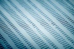 Concepto de los datos financieros con números Fotografía de archivo libre de regalías