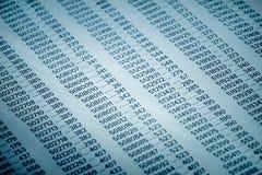 Concepto de los datos financieros con números Imagen de archivo