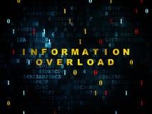 Concepto de los datos: Sobrecarga de información en Digitaces Imágenes de archivo libres de regalías