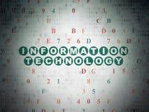 Concepto de los datos: Tecnología de la información en Digitaces Foto de archivo