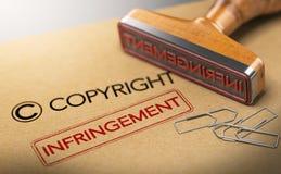 Concepto de los derechos de propiedad intelectual, violación de derechos de autor libre illustration