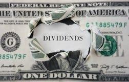 Concepto de los dividendos Fotografía de archivo libre de regalías
