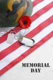 Concepto de los E.E.U.U. Memorial Day Imagen de archivo libre de regalías