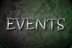 Concepto de los eventos Foto de archivo