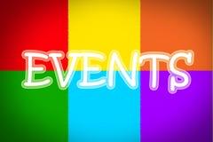 Concepto de los eventos foto de archivo libre de regalías