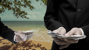 Concepto de los gastos de desplazamiento Fotos de archivo libres de regalías