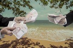 Concepto de los gastos de desplazamiento Imágenes de archivo libres de regalías