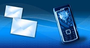Concepto de los gprs del teléfono móvil Fotografía de archivo libre de regalías